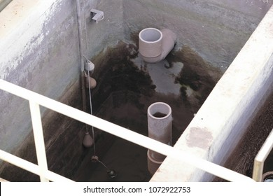 abstract, sump pit of wastewater treatment