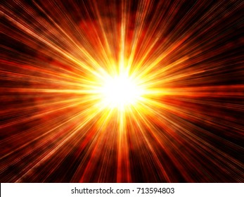 abstract sun burst background, with clouds