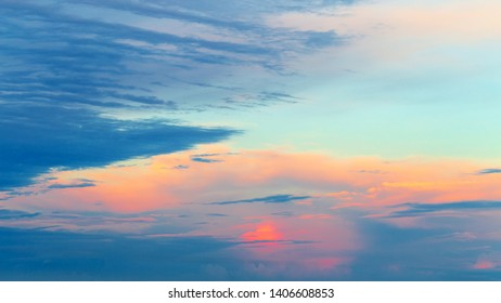 Abstract sunset cloudy sky background