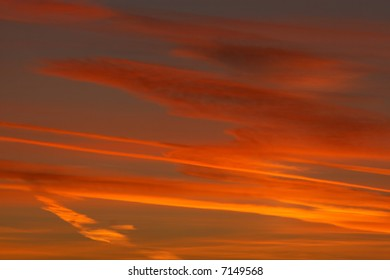 abstract sunset sky