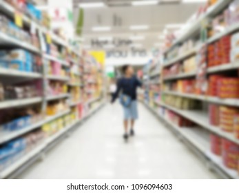 Abstract supermarket blurry for background