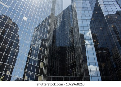 Abstract surface details of office buildings