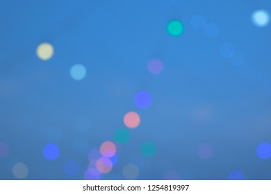 Abstract sweet color bokeh light background.