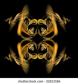 Abstract symmetrical abstract fractal background