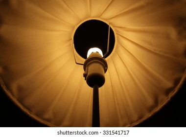 Abstract symmetrical shot of a lamp shade.