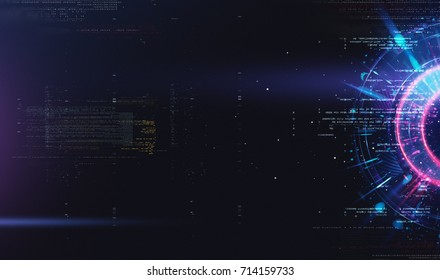 Abstract tech background. Floating Numbers HUD Background. Matrix particles grid virtual reality. Smart build. Grid core. Hardware quantum form. Future technology