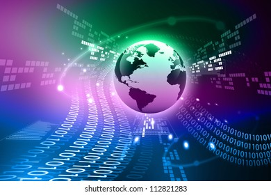 Abstract tech background with globe