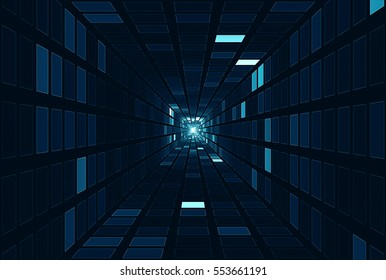 Abstract tech square geometrical background