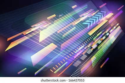 Abstract  techno background. Raster version.