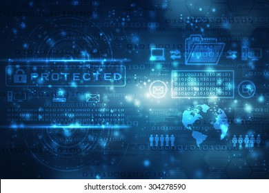 Abstract technology background with bright flare
