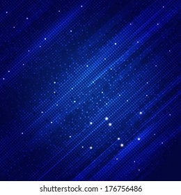 abstract technology square shapes on blue background