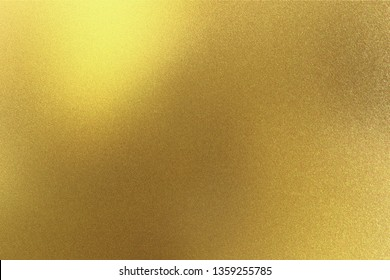 Abstract texture background, glowing golden metal plate
