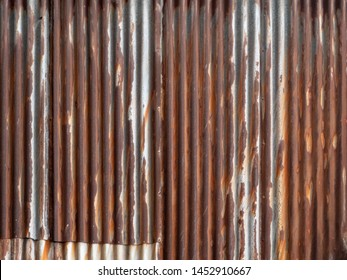 "Abstract Texture Background ""Rusted galvanized iron plate"""