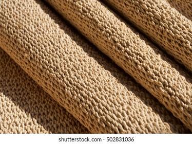 Abstract Texture  of Handmade Jute Weaving Mat