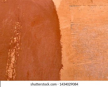 Abstract Texture of the old Italian wall terracotta colored