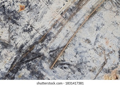Abstract Texture on Scratched Chip Board II