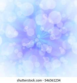 Abstract textured bokeh background in blue and purple.