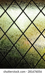 Abstract textured glass window