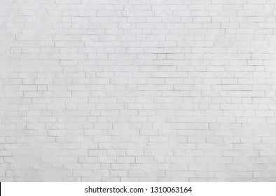 Abstract textured white brick wall background, empty space