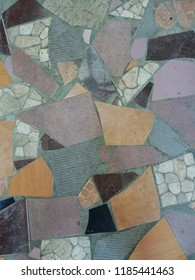 abstract tile composed from vary colour and motif