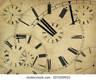 Abstract time background