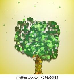 Abstract tree illustration, autumn background
