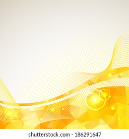 Abstract triangles lines pattern yellow frame and dots