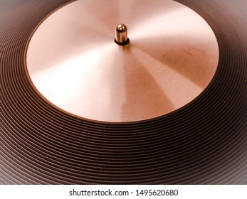 Abstract Turntable Record Player Close Up Vinyl