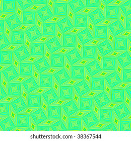 Abstract turquoise and yellow fractal rendered background