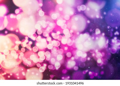 Abstract twinkled lights background with bokeh defocused white lights. Valentines Day, Party, Christmas background.