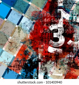 Abstract Typo Background