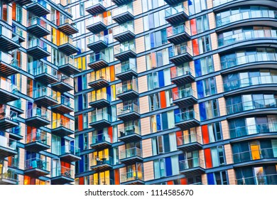 Abstract urban architectural pattern, populous building