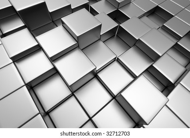 abstract urban background of 3d blocks