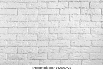 Abstract urban background. Modern white brick wall texture. Image in light gray tonality