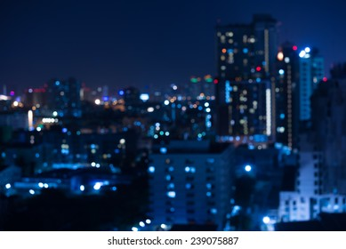 Abstract urban night light bokeh , defocused background