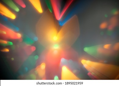 Abstract use of bokeh blur vivid colors for background, abstract backdrop. Bokeh light, flickering blurry multicolored lights on dark. Abstract blurred background in multicolor colors