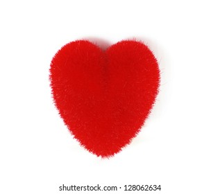 abstract Valentine's backgrounds over red textile with one hearts