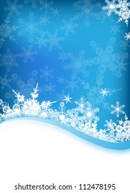 an abstract vector winter background for design