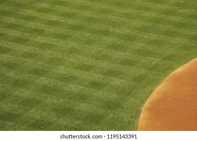Abstract view of a baseball stadium outfield