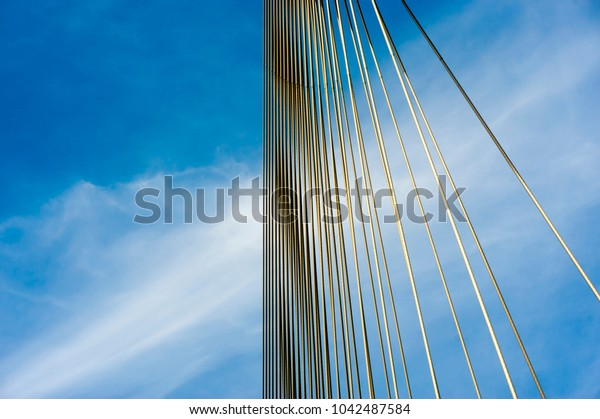 Abstract View of Bridge Cables