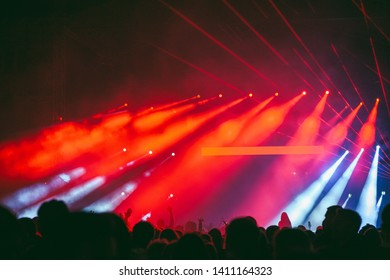 Abstract view of concert lights