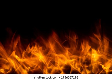 Abstract view of fire and flames