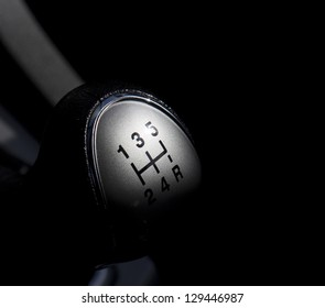 Abstract view of a gear lever