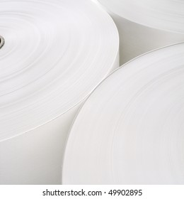 Abstract view of Industrial roll of paper