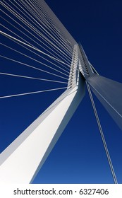 Abstract view of a large suspension bridge
