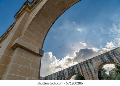 Abstract view of  Lower Barrakka Gardens arches