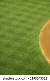 Abstract view of the outfield of an outdoor baseball stadium