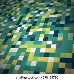 An abstract view of a pixel art style graphic