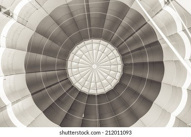 Abstract view of top of hot air balloon