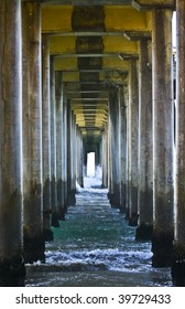 Abstract View Underneath Pier